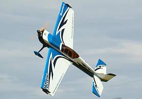 Літак радіокерований Precision Aerobatics Katana MX 1448мм KIT (синій)