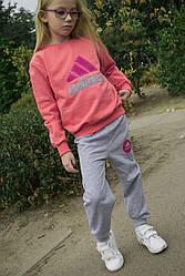 Детский спортивный костюм Турция, для девочки. Разные цвета от 1 до 10 лет. Хлопок 100%
