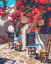 """Картина по номерам """"Кофейня под цветами"""""""