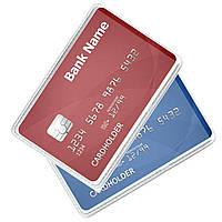 Обкладинка для банківської карти із ПВХ прозора