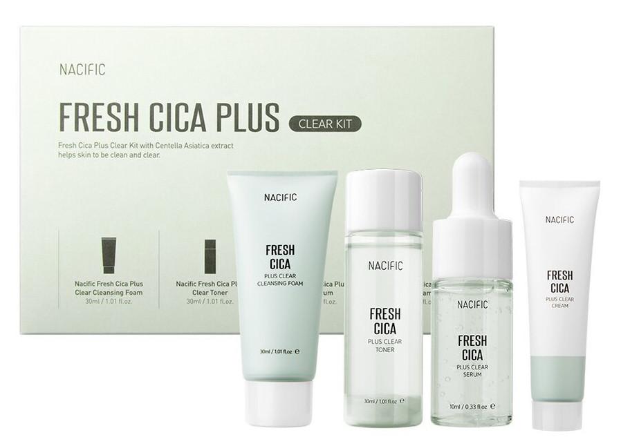 Набор косметики для проблемной кожи Nacific Fresh Cica Plus Clear Kit 30 мл, 30 мл, 10 мл, 20 мл