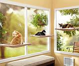 Лежанка для котов и кошек на окно, балкон. Полка для домашних животных Sunny Seat Сани сит до 22 кг, фото 4