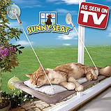 Лежанка для котів і кішок на вікно, балкон. Полиця для домашніх тварин Sunny Seat Сани звт до 22 кг, фото 2