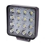 Светодиодная фара дальнего света 105х105мм Vitol LML-K1748E/1048E SPOT (16 LED*2w)