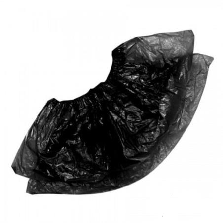 Бахилы одноразовые Черные 3г полиэтилен 100шт