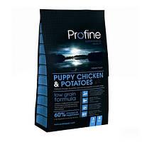 Profine Puppy Chicken and Potatoes корм профайн для щенков и молодых собак 3 кг