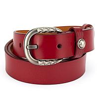 Ремень женский кожаный под джинсы красный PS-3089 red (110 см), фото 1