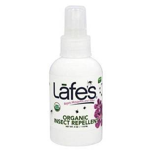 Lafe's Organic Mosquito Repellent Spray органический спрей от комаров, клещей, насекомых герань, кедр,  118 мл