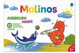 Фломастери-аерографи чарівні MALINOS BLOpens Magic 10 (8 + 2 + 1) шт
