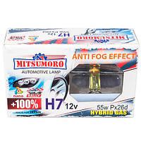 Автолампа MITSUMORO Н7 12v 55w Px26d +100 anti fog effect (ближній, дальній)