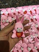 Мягкая игрушка заяц мини оптом для изготовления букетов