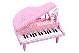 """Дитяче піаніно синтезатор Baoli """"Маленький музикант"""" з мікрофоном 31 клавіша (рожевий)"""