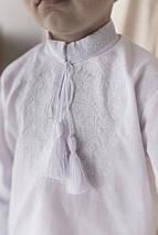 Рубашка с белой вышивкой для мальчика Звезда, фото 3