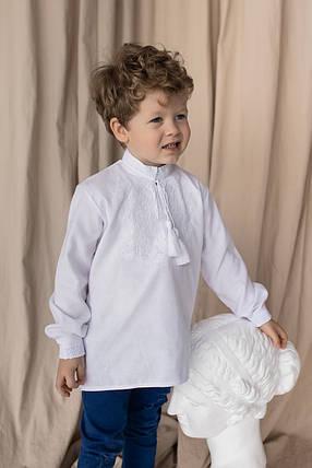 Рубашка с белой вышивкой для мальчика Звезда, фото 2