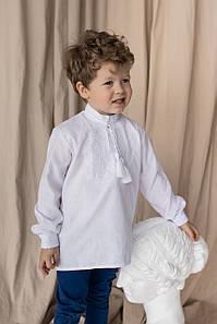Рубашка с белой вышивкой для мальчика Звезда