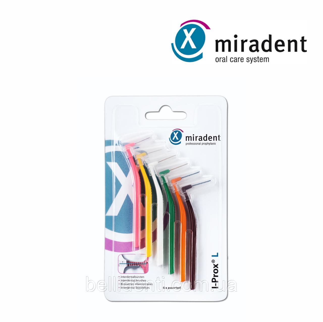 I-Prox chk miradent ручной интердентальный ершик, ассорти (6 шт)