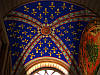 Золочение сусальным золотом лепнины потолка
