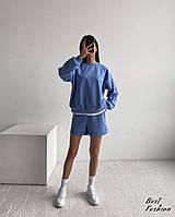 Женский стильный костюм: шорты и худи, фото 1