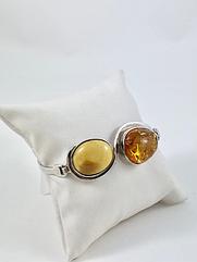 Браслет серебряный с янтарем 1069BRC-k