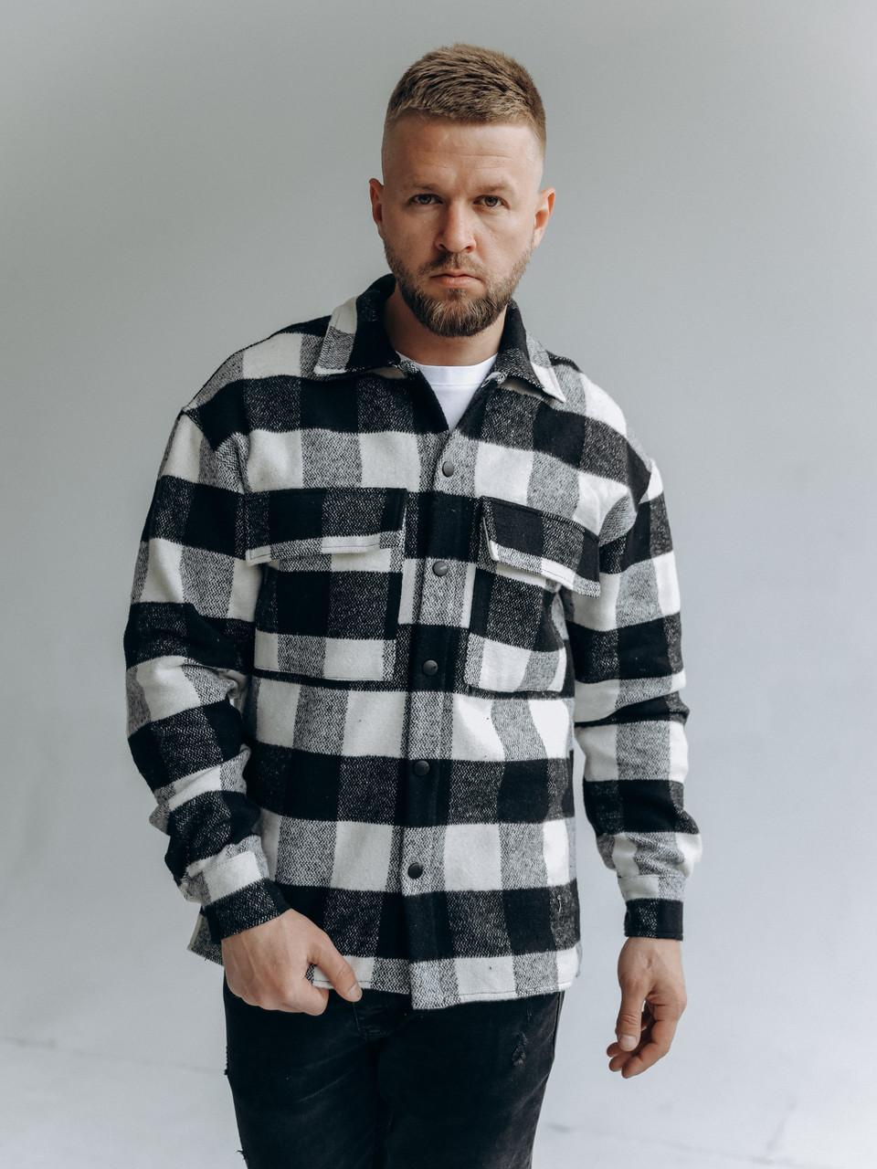 Картата чоловіча куртка-сорочка, фото 3