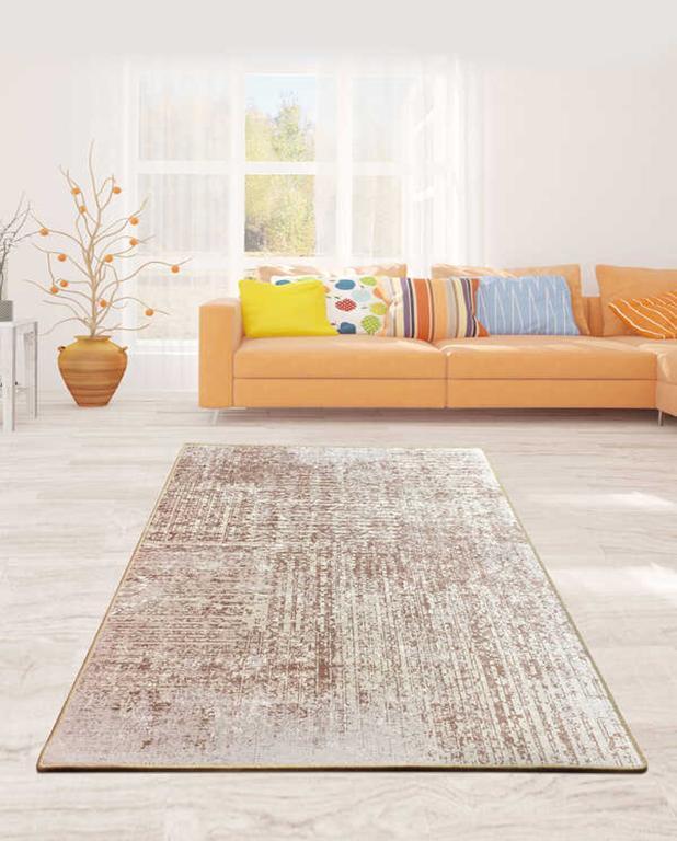 """Безкоштовна доставка!Турецький килим у спальню """"Беж"""" 100х160см."""