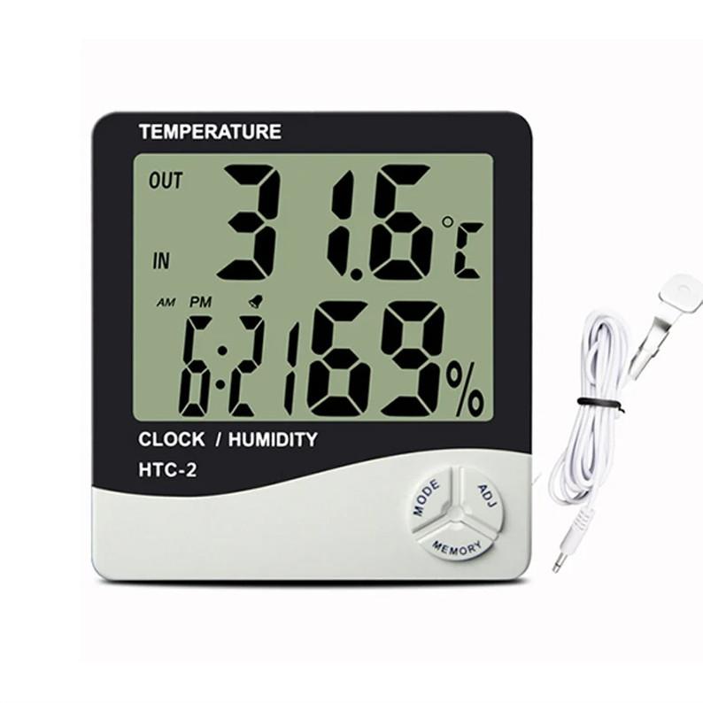 Термометр с гигрометром HTC-2, с выносным датчиком