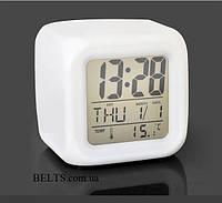 Светодиодные цифровые часы LED Color Change, часы с подсветкой Хамелеон, фото 1
