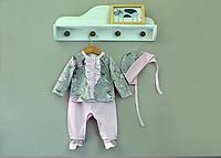 Комплект на выписку хлопок 100% для новорожденной девочки
