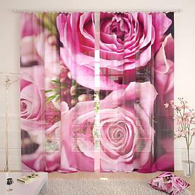 Фототюль розы макро