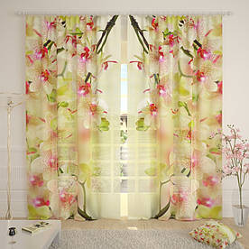 Фототюль орхидейный рай