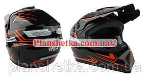 Шлем MD-905 Virtue кросс черный с оранжевым глянец