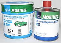 Авто краска (автоэмаль) акриловая Mobihel (Мобихел) 601 черная 0,75л + отвердитель 9900 0,375л