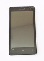 Оригинальный дисплей (модуль) + тачскрин (сенсор) с рамкой для Microsoft Lumia 435