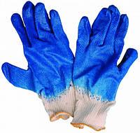 Перчатки строительные серые,латексное покрытие