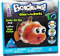 Набор Банчемс (Bunchems) «Детский Конструктор-липучка светящийся в темноте »Sea Pack ABC