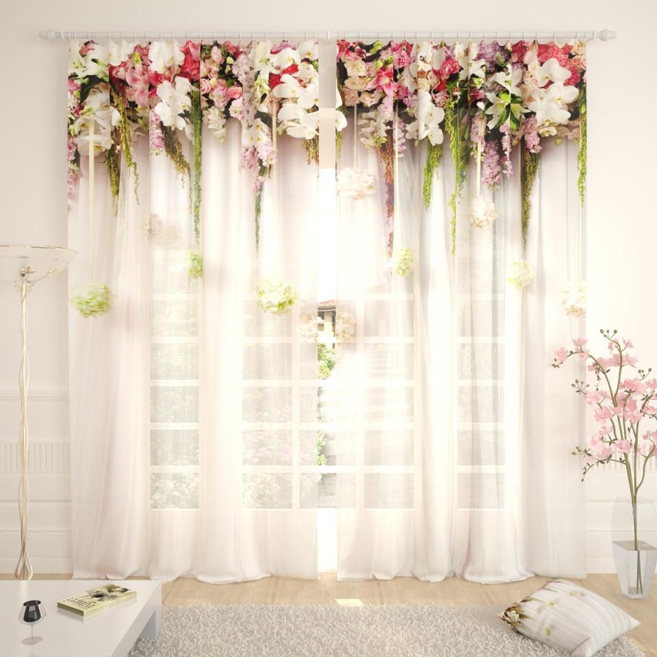 Фототюль цветочная арка