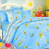 """Детское постельное белье в кроватку """"Love You"""" 100х150 сатин Cr-203"""