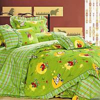 """Детское постельное белье в кроватку """"Love You"""" Cr-454  сатин"""