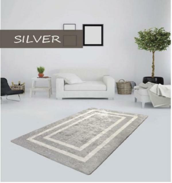 """Безкоштовна доставка!Турецький килим у спальню """"Silver"""" 100х200см."""