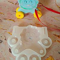 Молд силиконовый львенок лев на колесиках конструктор для шоколада мастики разм.8,5см*4см