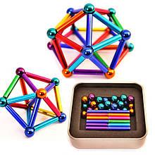 Игрушка головоломка Магнитный конструктор 36 палочек и 26 шариков