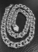 Серебряная мужская цепочка Бисмарк, цепь серебро 925