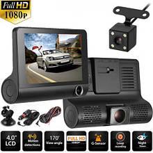 Видеорегистратор автомобильный 319 HDR LCD 4.0 Full HD 3 камеры