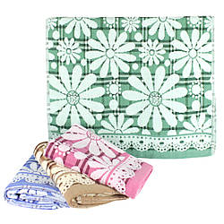 Полотенце для лица 50х100см Ромашка, лен с махрой полотенце