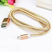 USB кабель в металлической оплетке для зарядки microUSB