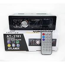 Бюджетна автомагнітола Atlanfa android з USB-вхід MP3 Bluetooth 1din 1781, Магнітола в машину з флешкою