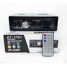 Бюджетная автомагнитола  Atlanfa android с USB-вход MP3 Bluetooth 1din 1781, Магнитола в машину с флешкой
