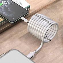 Кабель с магнитами Lightning для зарядки телефона 1м