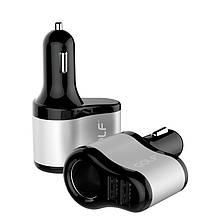 Автомобильное зарядное устройство GOLF GF-C14 Car charger 2USB 2.1A Black