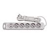 Мережевий подовжувач Luxel Nota 5 розетки 3М з заземленням та вимикачем +2 USB гнізда(4373)
